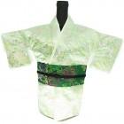 Kimono Wine Bottle Cover Japanese Woman Attire Green Lite Green Vine