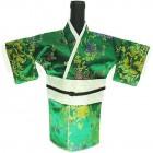 Kimono Wine Bottle Cover Japanese Woman Attire Lite Green Green Floral