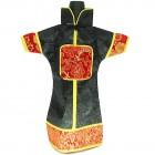 GuanFu Men Attire Wine Bottle Cover Red Black Dragon