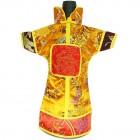 GuanFu Men Attire Wine Bottle Cover Red Yellow Imerial