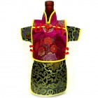 Men Kaisan Wine Bottle Cover Chinese Men Attire Burgundy Black