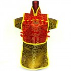 Men Kaisan Wine Bottle Cover Chinese Men Attire Red Fortune Gold Fortune
