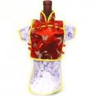 Men Kaisan Wine Bottle Cover Chinese Men Attire Red Butterfly Lite Violet Vine