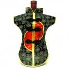 Kaisan-Moon Wine Bottle Cover Chinese Woman Attire Red Black Longevity