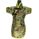 Qipao Wine Bottle Cover Chinese Woman Attire Butterfly