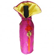 Imperial Hot-Pink Wine Bag