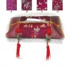 Tissue Box Cover Burgundy